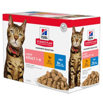 12 x 85g Hill's Science Plan Wet Cat Food Pouches - 9 + 3 Free!*