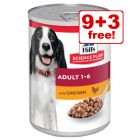 12 x 370/363g Hill's Science Plan Wet Dog Food - 9 + 3 Free!*