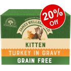 12 x 85g James Wellbeloved Kitten Wet Cat Food Pouches - 20% Off!*