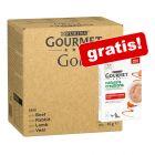 96 x 85 g Jumbopack Gourmet Gold + 5 x 10 g Nature's Creations Snack gratis!