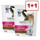 2 x 750 g/1,4 kg Perfect Fit -kissanruoka: 1 + 1 kaupan päälle
