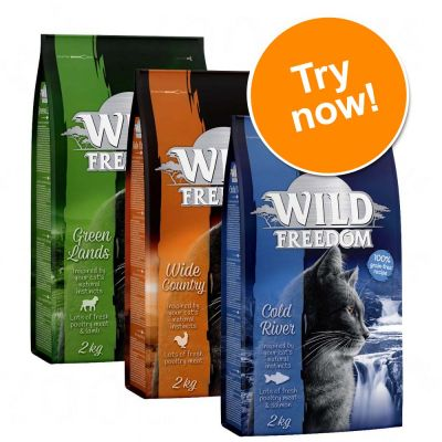3 x 400g / 2kg Wild Freedom Adult Dry Cat Food Mixed Pack - 2 + 1 Free!*