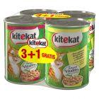 3 + 1 Δωρεάν! 4 x 400 g Kitekat υγρή τροφή