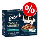 """44/12 x 80 g Latz """"Tasty Shreds"""" Poser til spesialpris!"""