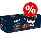 12 / 44 x 80 g Latz Tasty Shreds Pouches till sparpris!