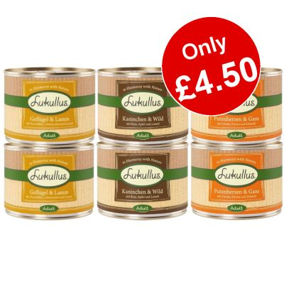 6 x 200g Lukullus Mixed Trial Pack - Only £4.50!*
