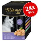 24 x 50 g Miamor Feine Fillets Mini kapsičky výhodné balení
