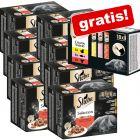 96 x 85 g Multipack Sheba Varietäten + 18 x 12 g Creamy Snacks gratis!