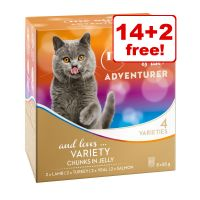 16 x 85g My Star is an Adventurer Chunks Wet Cat Food - 14 + 2 Free!*