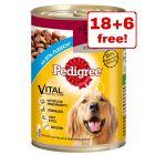 24 x 400g Pedigree Classic Wet Dog Food - 18 + 6 Free!*