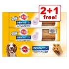 3 x 80g Pedigree Dentastix Advanced Dog Snacks - 2 + 1 Free!*