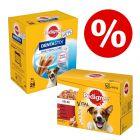 96 x 100 g Pedigree kapsičky Mix + 28 ks Dentastix snacků za skvělou cenu!