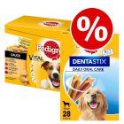96 x 100g Pedigree Mixed Pack + 28x Dentastix L - Special Bundle Price!*
