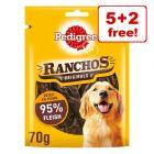 7 x 70g Pedigree Ranchos Originals Dog Snacks - 5 + 2 Free!*