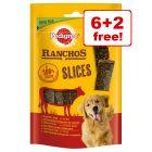 8 x 60g Pedigree Ranchos Slices Dog Treats 6 + 2 Free!*