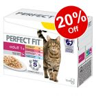 12 x 85g Perfect Fit Adult 1+ Pouches Mixed Pack - 20% Off!*