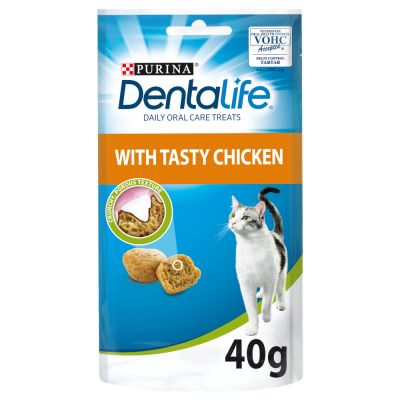 8 x 40g Purina Dentalife Cat Dental Snacks - Chicken - 30% Off!*