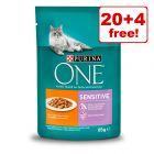 24 x 85g Purina ONE Wet Cat Food - 20 + 4 Free!*