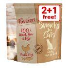 3 x 40g Purizon Grain-Free Cat Snacks - 2 + 1 Free!*