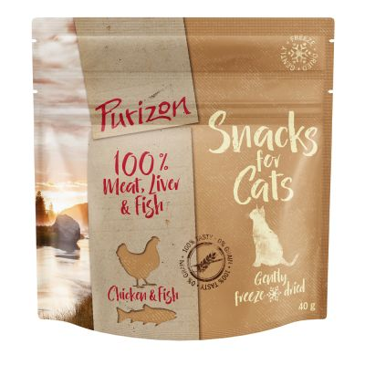 3 x 40g Purizon Grain-Free Cat Snacks - 20% Off!*