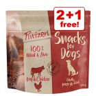 3 x 100g Purizon Grain-Free Dog Snacks - 2 + 1 Free!*