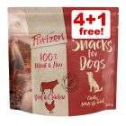 5 x 100g Purizon Grain-Free Dog Snacks - 4 + 1 Free!*