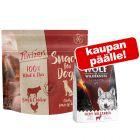 3 x 100 g Purizon Snack -koiranherkut + WoW-kuivaruoka 300 g kaupan päälle!