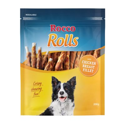 2 x 200g Rocco Rolls Chew Sticks - Special Price!*