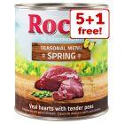 6 x 800g Rocco Spring Menu Wet Dog Food - 5 + 1 Free!*