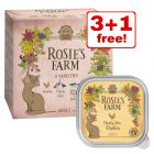 4 x 100g Rosie's Farm Adult Mixed Pack Wet Cat Food - 3 + 1 Free!*