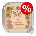 16 x 100 g Rosie's Farm Kitten rendkívüli árengedménnyel!