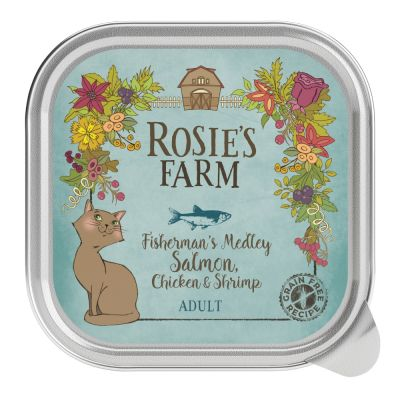 16 x 100g Rosie's Farm Wet Cat Food - 13 + 3 Free!*
