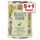 6 x 400g Rosie's Farm Wet Dog Food - 5 + 1 Free!*