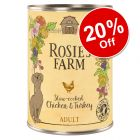 6 x 400g Rosie's Farm Wet Dog Food - 20% Off!*