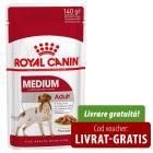 10 x 140 g Royal Canin Medium Adult Hrană umedă