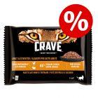 4 x 85 g Sachets Crave pour chat à prix avantageux !