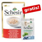 24 x 85 g Schesir in Gelei + 350g Cat Dry Natural Selection Adult Tuna gratis