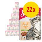 22 x 100 g Schmusy Ragout Kitten in Jelly Kyckling
