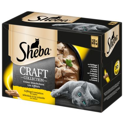 96 x 85g Sheba Pouches Wet Cat Food - 76 + 20 Free!*