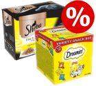 48 x 85g Sheba Pouches + 12 x 60g Dreamies Snack Box - Bundle Price!*