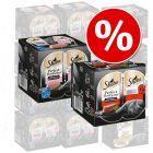48 x 85 g Sheba različice pladnji + 48 x 37,5 g Sheba Perfect porcije govedina