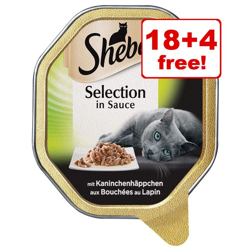22 x 85g Sheba Trays Wet Cat Food - 18 + 4 Free!*