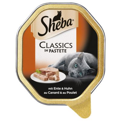 88 x 85g Sheba Trays Wet Cat Food - 76 + 12 Free!*