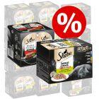48 x 85 g Sheba variácie mištičky + 48 x 37,5 g Perfect Portions hovädzí za skvelú cenu!