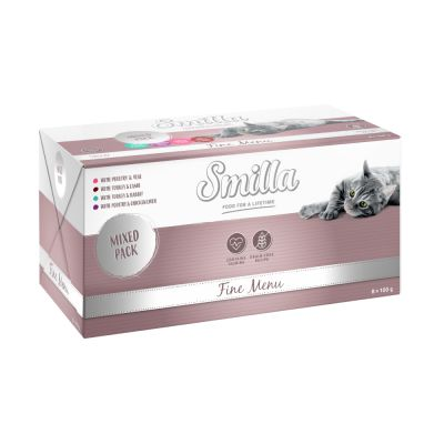 24 x 100g Smilla Fine Menu Wet Cat Food - 20 + 4 Free!*
