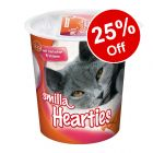 5 x 125g Smilla Hearties or Toothies Cat Snacks - 25% Off!*