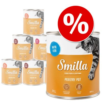 24 x 800g Smilla Poultry Mixed Pack Wet Cat Food - Special Price!*