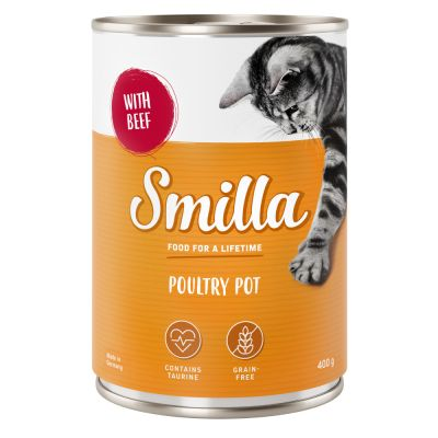 24 x 400g Smilla Tender Poultry Wet Cat Food - 20 + 4 Free!*