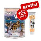 12 x 390 g Taste of the Wild + gratis Briantos Cream Team 75 g!