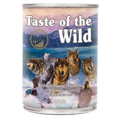 12 x 390 g Taste of the Wild + gratis Rosie's Farm Snacks